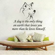 Dog Wall Vinyl Decals Quote Sticker Nursery Grooming Salon Home Decor Art MS71