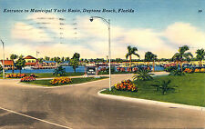 ENTRANCE TO MUNICIPAL YACHT BASIN, DAYTONA BEACH, FLORIDA. FL.