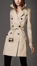 Luxury The Kensington Burberry Trench Cotton 100%  size It 38/40 Uk 6/8