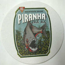BJ's BREWHOUSE PIRANHA PALE ALE Beer COASTER, Mat with a FISH, CALIFORNIA 2014