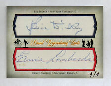 ERNIE LOMBARDI & BILL DICKEY 2008 SP LEGENDARY CUTS 1/1 DUAL CUT AUTO AUTOGRAPH