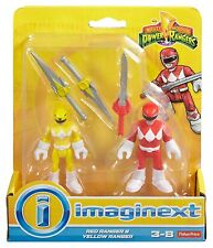 Imaginext mighty morphin power rangers rouge-ranger jaune et ranger * neuf *