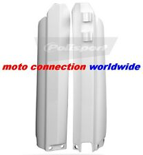 POLISPORT WHITE LOWER FORK GUARDS FOR YAMAHA YZ125 YZ250 1996 - 2004