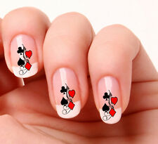 20 Nail Art Decals Transfers Stickers #108 - Poker Cards Swirl