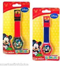Disney Mickey Mouse LCD Watch Boys Girls Wristwatch LCD Digital Watches-New!