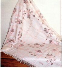 ZWEIGART Cross Stitch Anne Cloth Afghan 18 count White with Pink lines 45 X 57