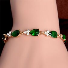 Fashion Jewelry 1pc 18K Gold Filled Colorful Crystal Lady's Bracelet Bangle