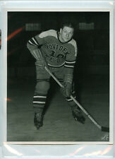 CARL LISCOMBE 1946-47 PROVIDENCE REDS AHL ORIGINAL MARCELL VARIATION 8x10 PHOTO