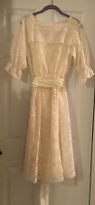 Vintage 70s Gunne Sax Dress Boho Wedding Sheer Floral Lace Hippie Prairie Bride
