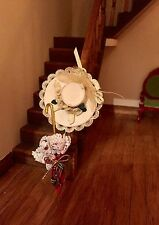 1/12 Scale, Dolls House Miniature  hat and umbrella ladies very pretty