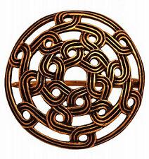 sehr schöne Gewandfibel Wikinger Rus Fibel aus Bronze Knoten Scheibenfibel 4cm