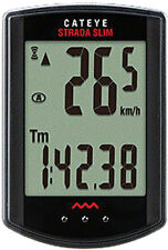 CATEYE STRADA SLIM--CC-RD310W WIRELESS BLACK BICYCLE SPEEDOMETER COMPUTER