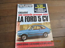 MAGAZINE L AUTO JOURNAL 2 1974 ford 5 cv renault 6 opel diesel