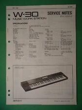 Original ROLAND Service Notes- W-30 Music Work Station