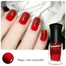 6ml Thermal Nail Polish Color Changing Peel Off Wine Red to Red Nail Varnish