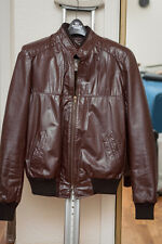 Sears Bomber Leather jacket with liner Sz Small SM Genuine Leather