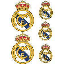 Stickers autocollants Foot Real de Madrid 5 stickers Real de Madrid