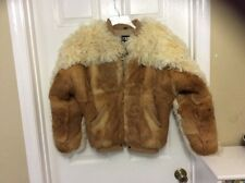 Curly Sheep Fur Women sz 14 Coat Jacket dyed Fur