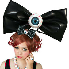 Kreepsville 666 XL Eyeball Hairbow Slide Clip Black