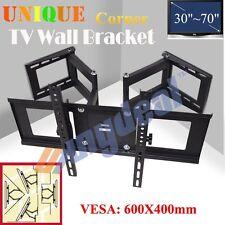 """Double-armed Tilt & Swivel Wall Mounted Corner TV Bracket 600 x 400 mm 30-70"""""""