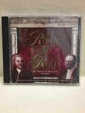 Riches To Rags Dr George C Baker III Organist Bach & Joplin