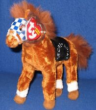 TY SECRETARIAT he HORSE BEANIE BABY - 1973 TRIPLE CROWN WINNER - MINT TAGS