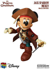 MEDICOM PIRATES DISNEY JACK SPARROW MICKEY MOUSE MIRACLE ACTION FIGURE ~NEW~