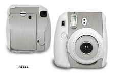 Custom Skin Sticker Wrap Decal For Fujifilm Instax Mini 8 Instant Camera STEEL