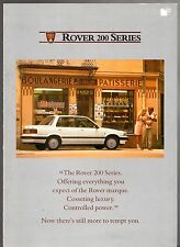 Rover 200-Series 1988 UK Market Foldout Sales Brochure 213 216