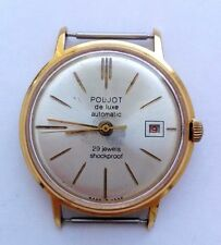 POLJOT DE LUXE AUTOMATIC  29 JEWELS ULTRA SLIM   GOLD PLATED SOVIET-RARE