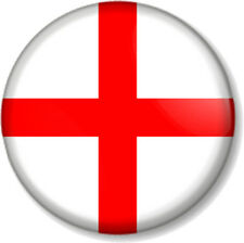 "English Flag 25mm 1"" Pin Button Badge St George's Cross England Patriotic Proud"
