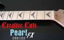 V Custom BLACK PEARL Fret Markers Inlay Decals for Charvel or ANY BASS & GUITAR
