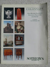 Sotheby's catalogue Colonnade Old Master Paintings Textiles, Furniture, 1995