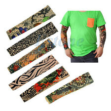 Lot 6 Pcs Fake Temporary Party Realistic Tatoo Slip On Tattoo Arm Covers Sleeves