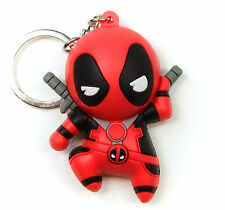 "Marvel Collectors Figural Keyring DEADPOOL SERIES - RED DEADPOOL A 3"" Keychain"