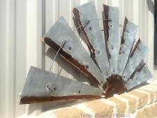 """47"""" Rustic Half Windmill Head Fan Western Ranch Barn Farmhouse Wall Decor"""