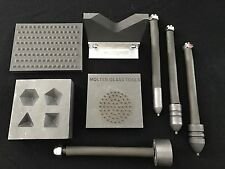 Glass blowing TOOL KIT #1  BOWLPUSH SET, IMPLOSION TOOL, VNECK, 3-D STAMP&FACET