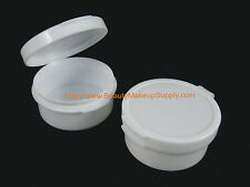 50 BMS Cosmetic Jars Plastic Hinged Containers 10 Gram Cream Pots 10 ml | 5095
