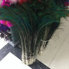 10-500pcs Natural peacock feathers 12-32 inches/30-80cm Left and Right symmetry