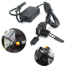 USB Powerport 12V 2.1A Dual Charger fr Smartphone iPhone Android GPS Motorcycle