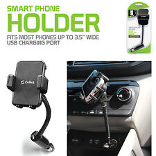 Car Cigarette Lighter Plug Gooseneck Phone Holder for iPhone 6S PLUS w/ USB Dock