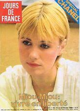 COUVERTURE DE MAGAZINE JOURS DE FRANCE 1311 16/02/80 MIOU-MIOU