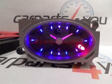 FORD MONDEO MK3 01-07 BLACK FACED BLUE & RED LED TIME CLOCK + FREE UK POSTAGE