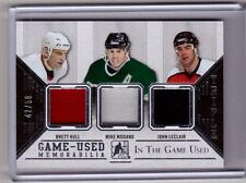 BRETT HULL MIKE MODANO JOHN LECLAIR 14/15 Leaf ITG In The Game Used Jersey # /50
