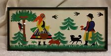 Framed Wycinanka Folk Art Polish Paper Cut Out