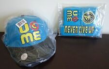 WWE AUTHENTIC John Cena Blue U Can't See Me Baseball Hat Headband Wristband Set
