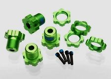 Traxxas 5353G Green Anodized 17mm Splined Wheel Hex Hubs / Nuts : Slayer Pro