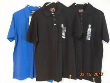 NWTS Lot Of 3 Mens M South Pole 3 Button Front Short Sleeve Shirt Black & Blue