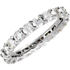 2.47 Ct Moissanite Round Brilliant Cut Eternity Wedding Band Ring 14k  Size 7