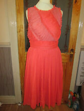 dorothy perkins orange raw edge dress size 12 eur 40 brand new with tags